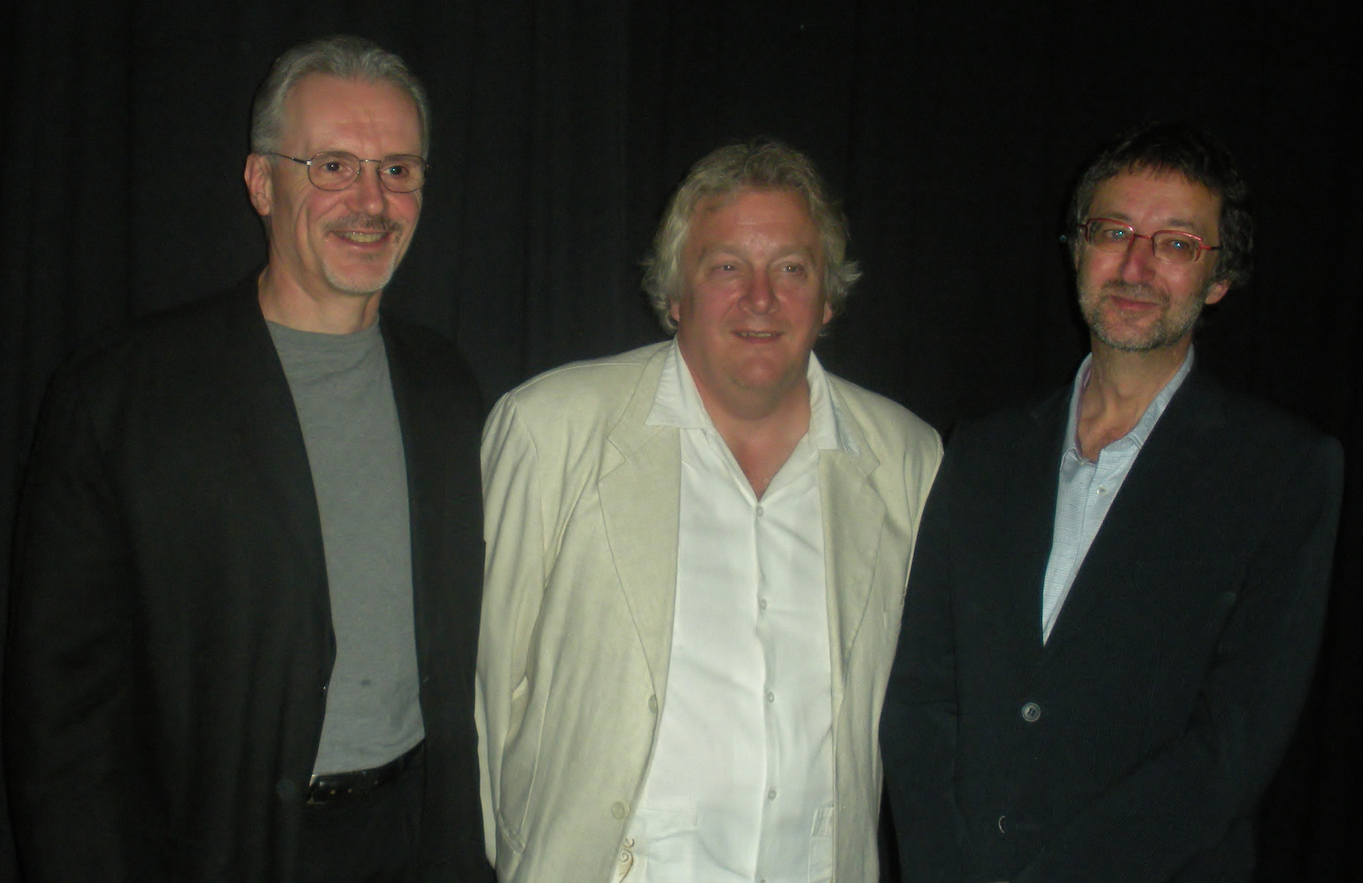 L-R: Douglas Smith, Hayden Trenholm and Guy Gavriel Kay